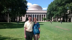 Bekah and I in front of MIT.