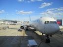 Our plane (Boeing 767-400) from Boston to Heathrow.