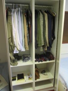 My wardrobe at St. Michael's.