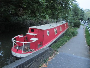 One of many house boats in Oxford Canal