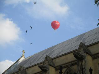 Balloon over Merton College