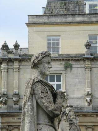 A 19th century statue adding Roman flavour to the baths