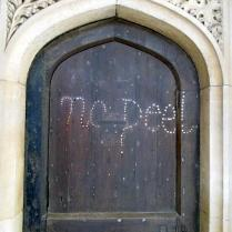 Evidence of anti-Peel sentiment (19th century PM), Christ Church