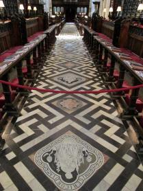 The nave floor, Christ Church