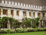 Lovely greens in the cloister quad.