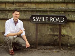 A (near) sartorial encounter. It's unclear whether much tailoring happens on Savile Road, Oxford.