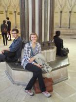 Bekah and Nate at the Chapter House central pillar