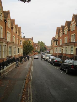Looking down Walton Street