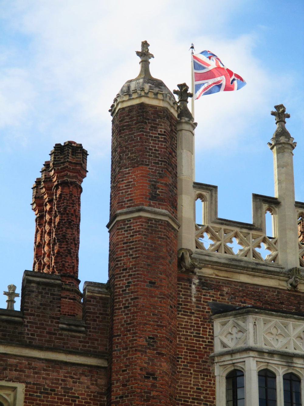 The (recently reaffirmed) Union Jack flies proud