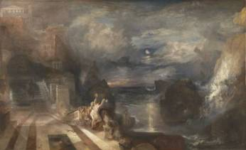 The Parting of Hero and Leander exhibited 1837 by Joseph Mallord William Turner 1775-1851