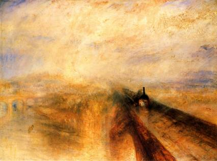 Rain, Steam, and Speed - The Great Western Railway exhibited 1844 by Joseph Mallord William Turner 1775-1851