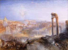 Modern Rome - Campo Vaccino exhibited 1839 by Joseph Mallord William Turner 1775-1851
