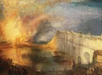 The Burning of the House of Lords and Commons, 16th October 1834 exhibited 1835 by Joseph Mallord William Turner 1775-1851